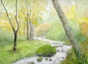 村はずれの渓流