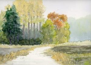 秋の農道風景
