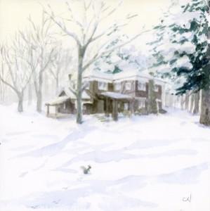 ルオムの森の雪景色